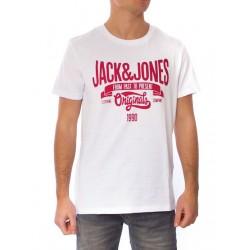 JACK   JONES μπλούζα κοντομάνικη ανδρική - άσπρο 12109546 948acbbbe6a