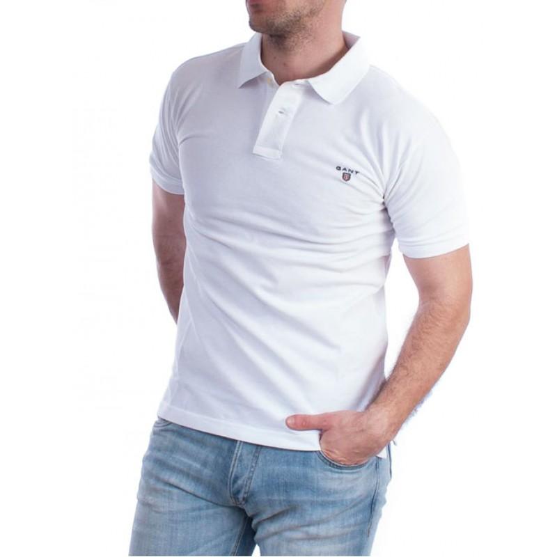 fb21f29ff439 GANT ανδρικό polo μπλουζάκι κοντομάνικο - λευκό 2201-100