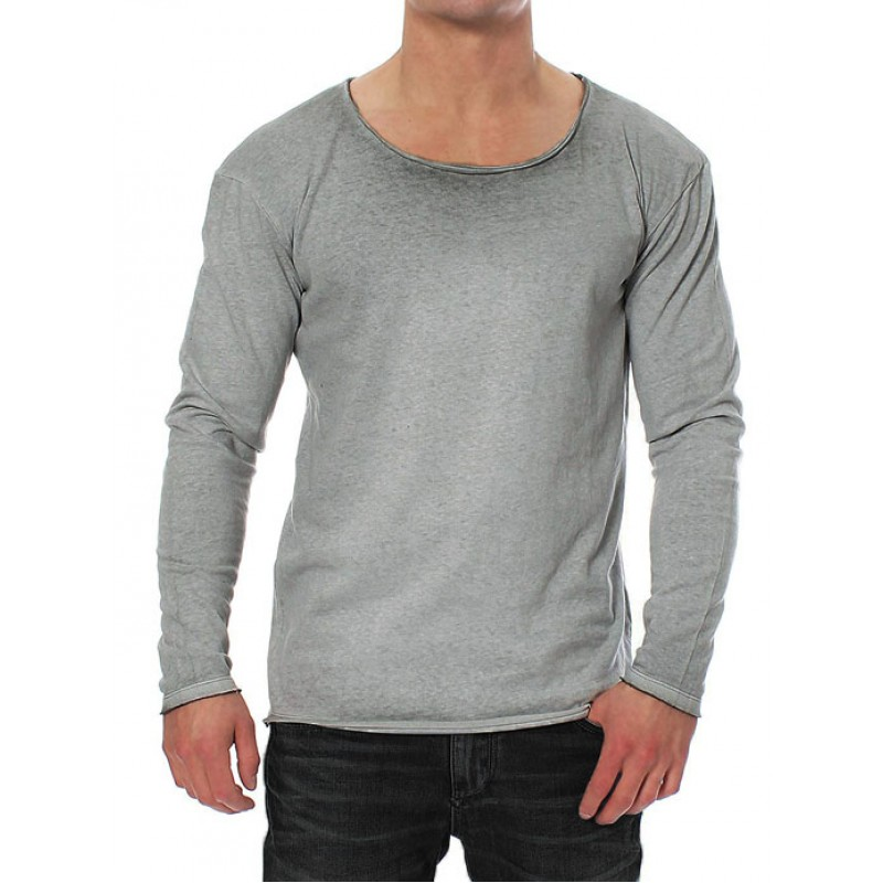 17fafd0ceb92 JACK   JONES μπλούζα ανδρική μακρυμάνικη - γκρι σκούρο 12093311