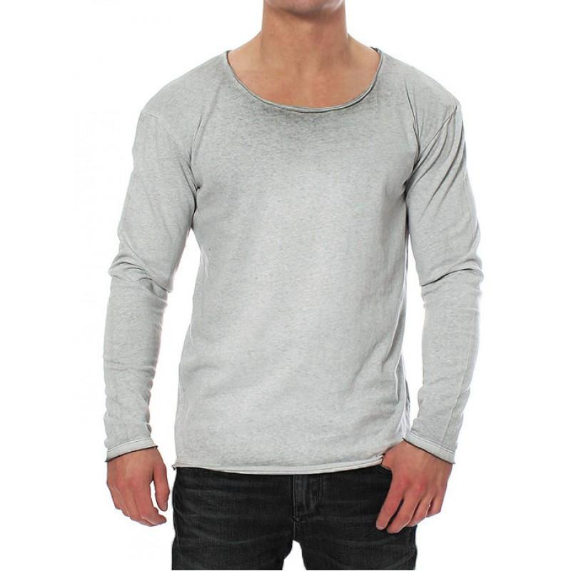 80600961cde2 JACK   JONES μπλούζα ανδρική μακρυμάνικη - γκρι ανοιχτό 12093311