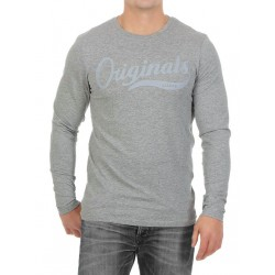 JACK   JONES μπλούζα ανδρική μακρυμάνικη - γκρι ανοιχτό 12128482 5e121a5465b
