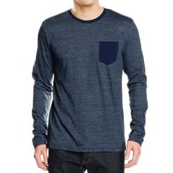 SUBLEVEL ανδρική μακρυμάνικη μπλούζα - μπλε H1676L20635A-19300 e6f72b465d6