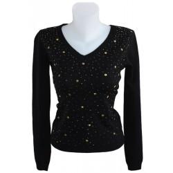 5e1d4e41b053 DINE N  DANCE μπλούζα πλεκτή γυναικεία-μαύρη JM5302-211