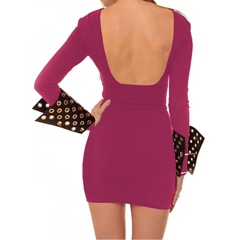 PIERRE BALMAIN γυναικείο mini φόρεμα - φούξια 7M7451 35515-523 61fe3d6e3f2