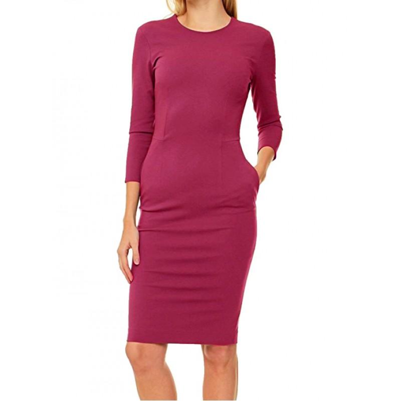 Νέο -60% PIERRE BALMAIN γυναικείο midi φόρεμα - φούξια 7M7480 35515-523 1d5bf9adbde