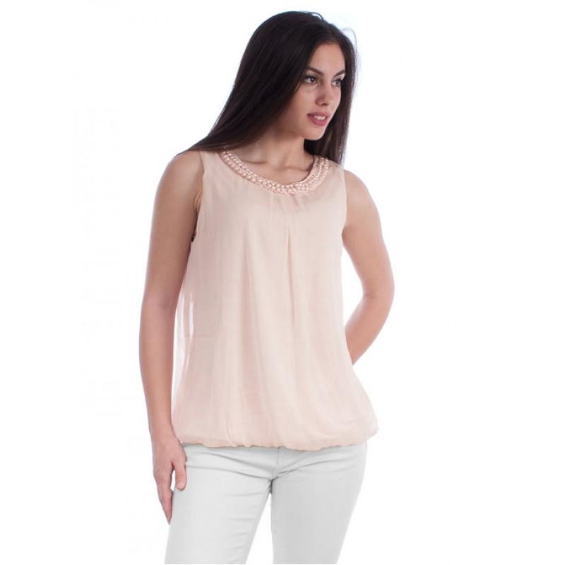 4c078dfd4cd0 VILA γυναικείο αμάνικο μπλουζάκι τοπ - ροζ 14028394