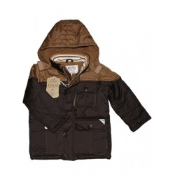 E-BOUND παιδικό μπουφάν για αγόρι-καφέ (3 - 6χρ) A120556- 256dc78eee6