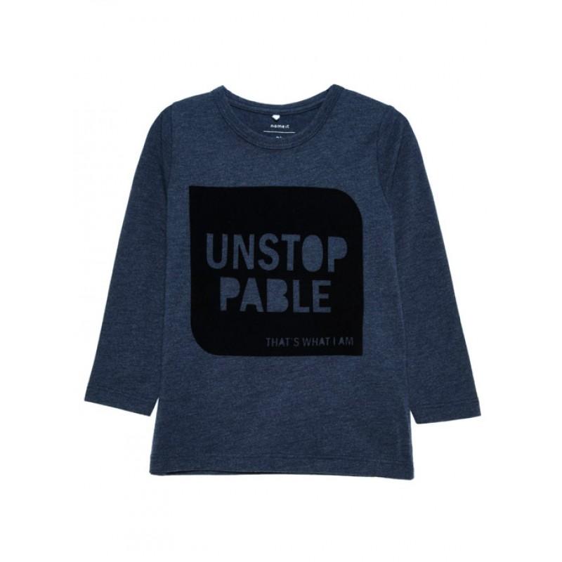 31dc1117da1 NAME IT baby μπλουζάκι για αγόρι-μπλε (9μην-4χρ) 13141728