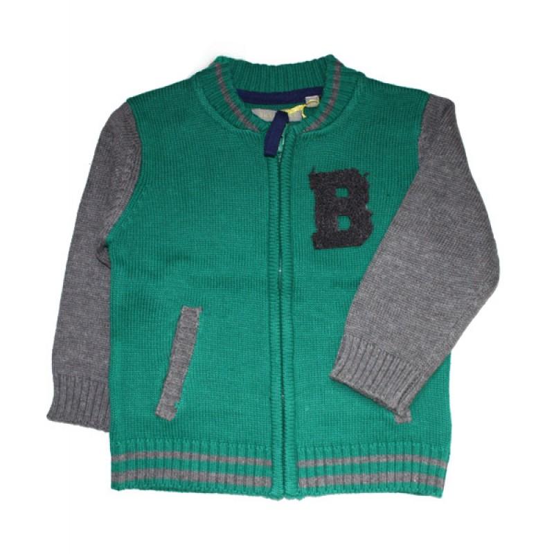 f0c8b98f7fd Tricky Tracks baby πλεκτό ζακετάκι για αγόρι-πράσινο (6 -18μην)