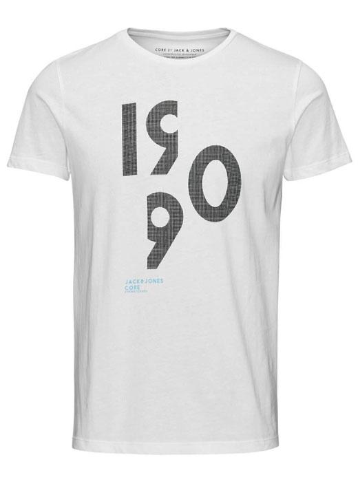 6cebc607beb0 JACK   JONES μπλούζα κοντομάνικη ανδρική-άσπρη